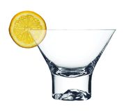 玻璃马蒂尼鸡尾酒短小 免版税库存照片