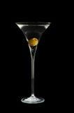 玻璃马蒂尼鸡尾酒空间文本 免版税库存照片