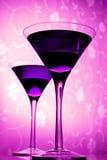 玻璃马蒂尼鸡尾酒紫罗兰 图库摄影
