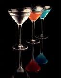玻璃马蒂尼鸡尾酒 库存图片