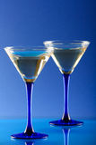 玻璃马蒂尼鸡尾酒 免版税库存图片