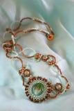 玻璃murano项链绿松石 图库摄影