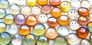 玻璃smilies范围 免版税库存照片