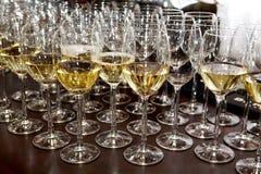 玻璃stemware酒 库存图片