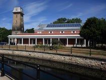 珀斯图书馆和老了望塔 免版税库存图片
