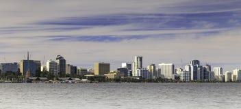 珀斯市地平线 免版税图库摄影