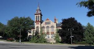 珀斯市政厅看法在斯特拉福,加拿大4K 股票视频