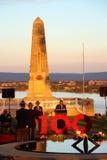 珀斯纪念国王停放100th安扎克黄昏服务 库存照片