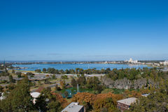 珀斯,澳大利亚的看法 免版税库存照片