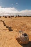 珀斯, Nambung,西澳州北部的石峰沙漠  库存照片