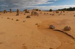 珀斯, Nambung,西澳州北部的石峰沙漠  库存图片