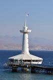 珊瑚世界水下的观测所水族馆在埃拉特以色列 库存照片