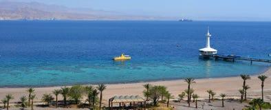 珊瑚世界水下的观测所水族馆在埃拉特以色列 库存图片