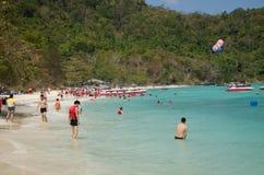 珊瑚岛,普吉岛 免版税库存图片