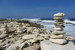 珊瑚岩石堆 免版税库存照片