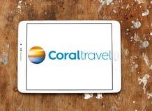珊瑚旅行游览机构商标 免版税库存图片