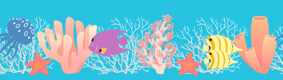 珊瑚模式礁石 免版税库存照片