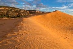 珊瑚沙丘kanab公园粉红色沙子状态美国犹他 库存照片