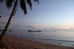 珊瑚海日出 库存图片