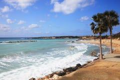 珊瑚海湾在塞浦路斯 库存照片