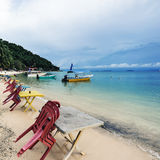 珊瑚海湾海滩酒吧 免版税库存图片