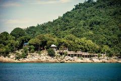 珊瑚海湾海滩 免版税库存照片