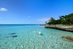 珊瑚海滩在古巴 库存图片
