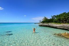 珊瑚海滩在古巴 库存照片