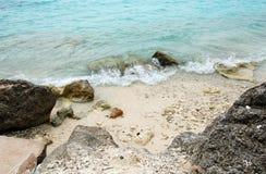 珊瑚海滩海岸库拉索岛海岛 免版税图库摄影