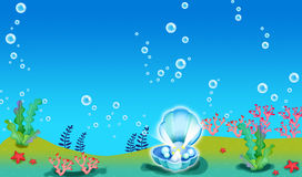 珊瑚珍珠 库存图片