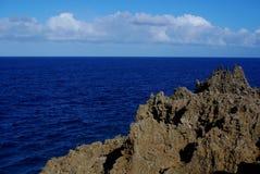 珊瑚石峰,海洋监视 库存图片