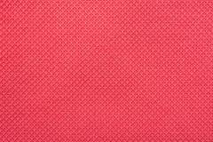 珊瑚红色美好的棉纺织品 库存图片