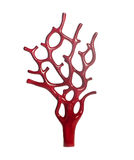 珊瑚红色雕塑 免版税库存图片