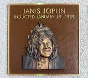 珍妮丝・贾普林青铜色的牌 免版税库存图片