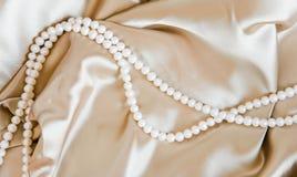 珍珠丝绸 免版税库存图片