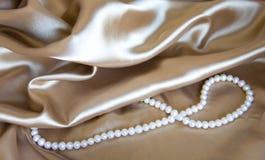 珍珠丝绸 库存图片