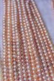 珍珠串在市场上 图库摄影