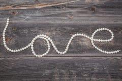 珍珠字符串 图库摄影