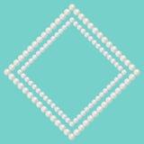 珍珠小珠框架 免版税库存图片