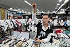 珍珠市场在北京,中国 图库摄影