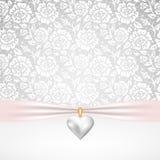 珍珠心脏垂饰 库存图片