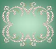 珍珠框架 库存图片