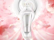 珍珠白色skincare广告 皇族释放例证