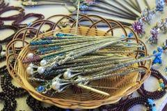 珍珠簪子 免版税库存图片