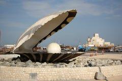 珍珠纪念碑在多哈,卡塔尔 图库摄影