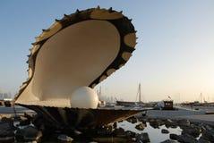 珍珠纪念碑在多哈 免版税库存照片