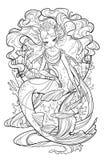 珍珠美人鱼的例证 免版税库存照片