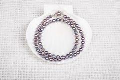 黑珍珠项链#3 免版税库存照片