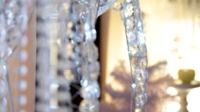 珍珠,成串珠状首饰装饰婚礼 影视素材