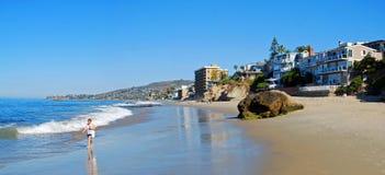 珍珠(曲拱)街道海滩,拉古纳海滩,加利福尼亚 库存图片